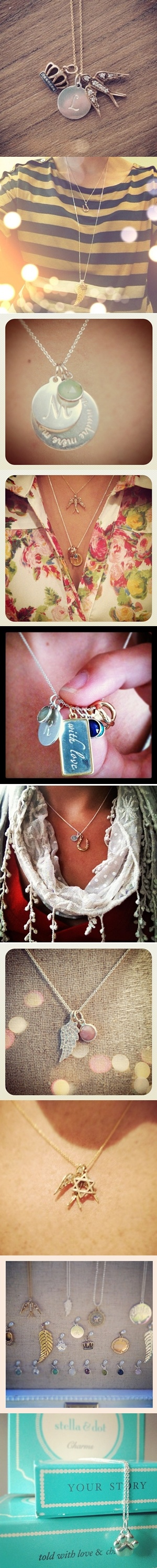 Gift idea: Personalized charm necklaces from Stella & Dot.