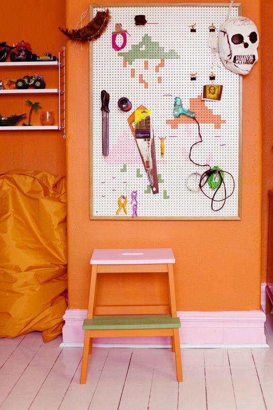 Peg Board In Kids Room