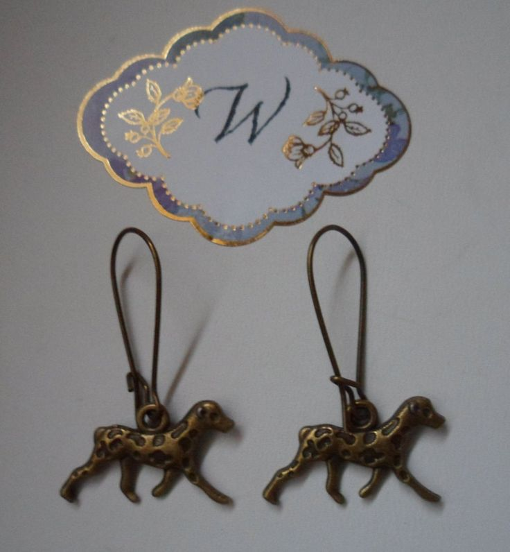 Dalmatian Dogs! Bronze Dalmatian Dog Earrings! 3D Bronze Dog Charms! Adorable Dalmatian Dogs! Handmade & One Of A Kind Earrings On Sale Now! by OldLadyWhite on Etsy