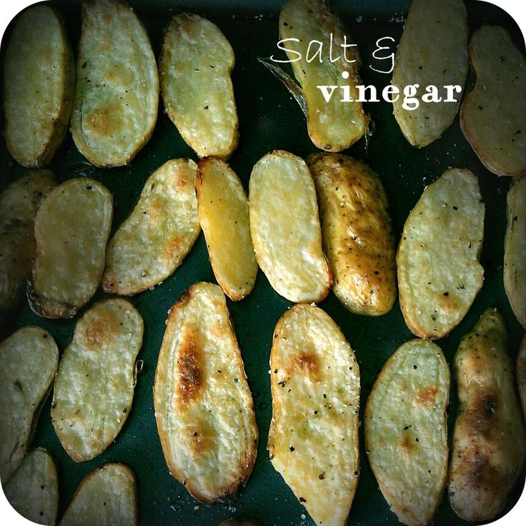 Salt and Vinegar Fingerling Potato Snack (Better than Salt and Vinegar chips)