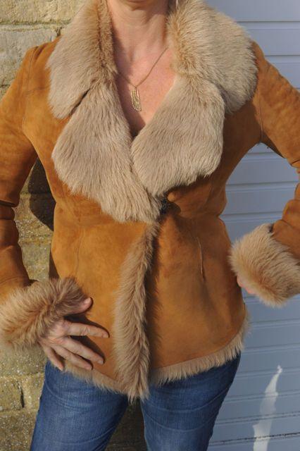 REDUCED Stunning Ladies Quality Shearling Coat Harvey Nichols 12 M lightly worn