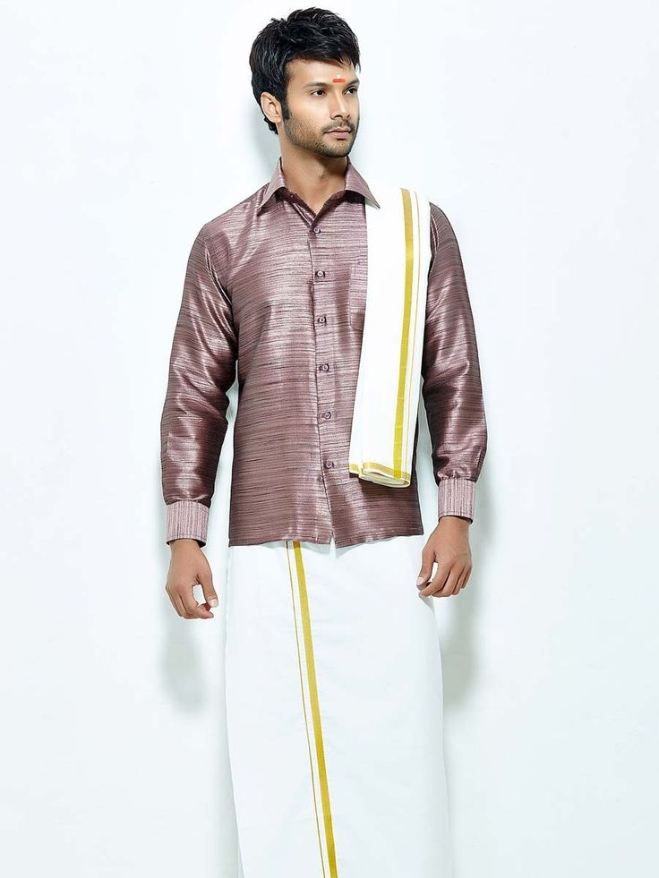 26 best south indian mens wear images on pinterest moda for Wine colored mens dress shirts
