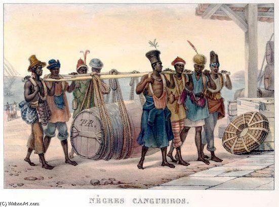 Cargo Negros. Slaves In Brazil by Jean Baptiste Debret (1768-1848, France)