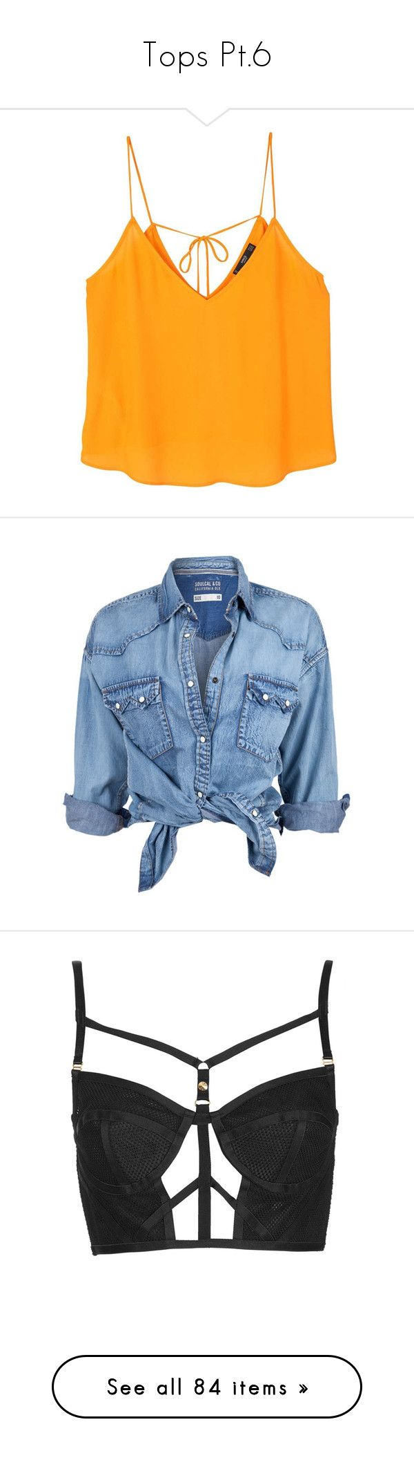 """""""Tops Pt.6"""" by brook-s18 ❤ liked on Polyvore featuring tops, shirts, crop top, blusas, v neck tops, strappy crop top, bow crop top, cut-out crop tops, jackets and blue denim shirt"""