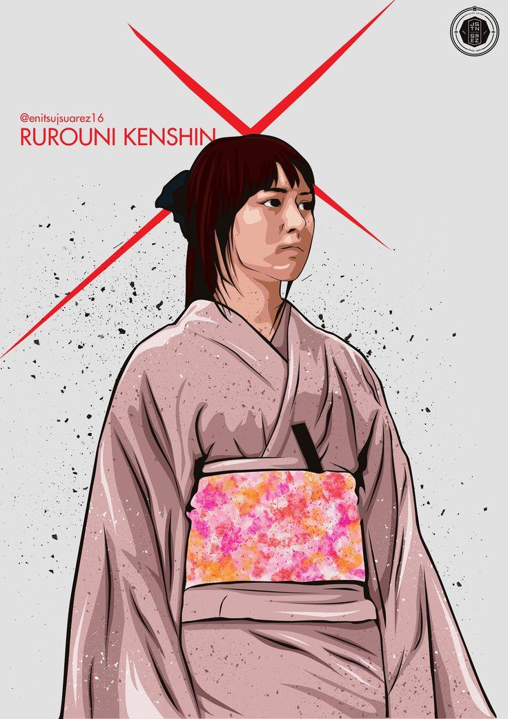 Rurouni Kenshin : Kaoru, Justine Suarez on ArtStation at https://www.artstation.com/artwork/rurouni-kenshin-kaoru