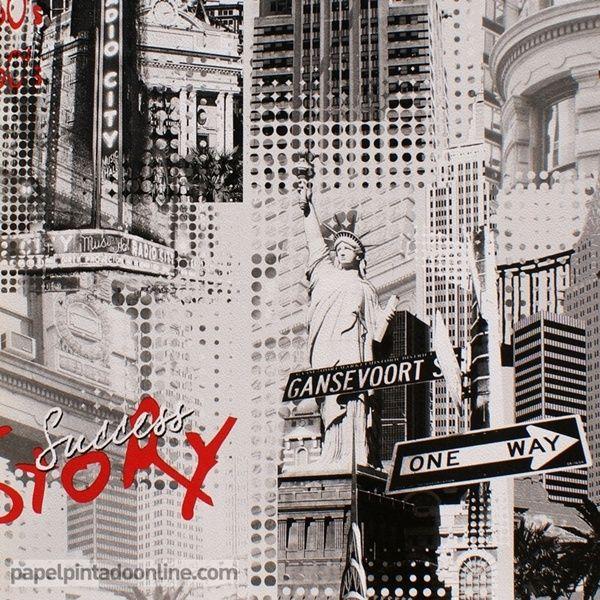 Papel pintado city 254b papel con im genes de edificios - Papel pintado nueva york ...