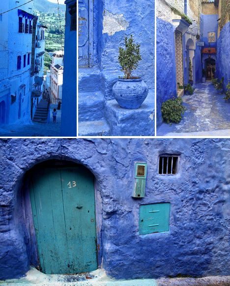 I love the indigo of the Moroccan blue city of Chefchaouen