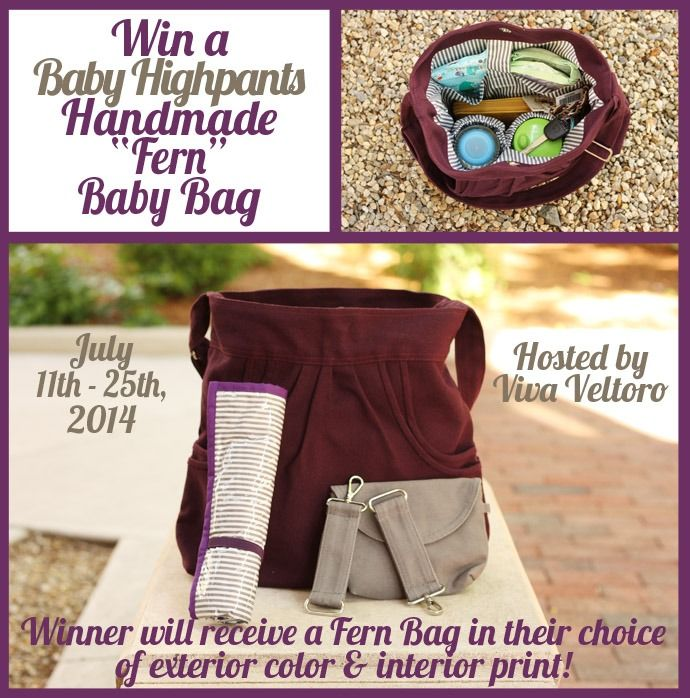 Win a custom Baby Highpants Diaper Bag!  LOVE this bag!