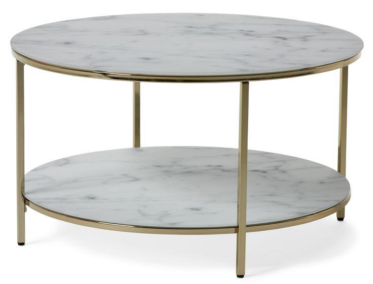 Ren, enkel och vacker design får du i Nelly soffbord som kombinerar glas, metall och marmorkänsla på ett spännande sätt. Nelly är ett stilrent soffbord med skiva i matt glas med tryckt marmormönster. Tillsammans med det raka, enkla underredet i metall ger soffbordet ett nätt och luftigt intryck. Bordet har en praktisk avlastningshylla där du kan förvara tidningar, fjärrkontroller eller annat du vill ha nära tillhands. Då Nelly är omonterat är det enkelt att ta med sig hem.