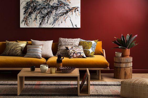 Rote Wände gestalten - 7 Tipps von | Roten wände ...