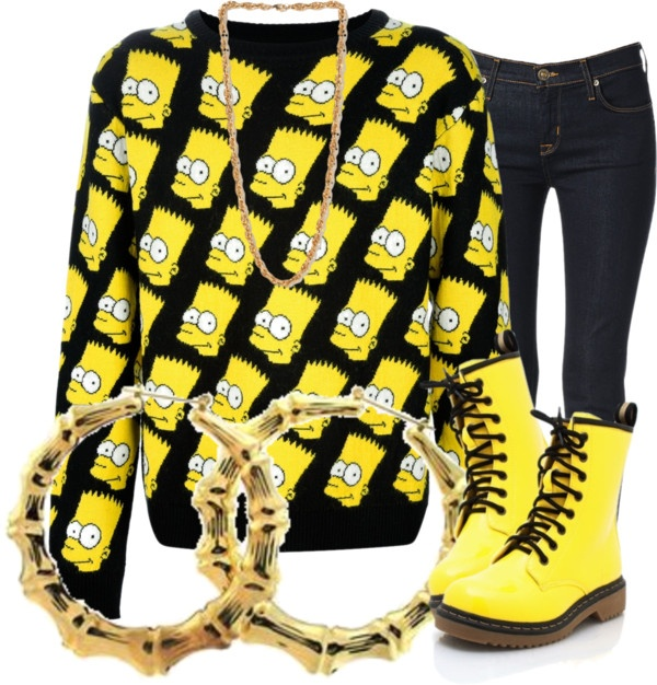 """""""Bart Simpson Swag"""" by nenedopesauce ❤ liked on Polyvore"""