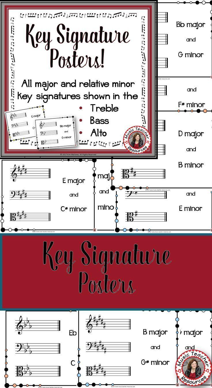 Best 25 major key signatures ideas on pinterest music theory music theory key signatures key signature posters classroom decor set buycottarizona