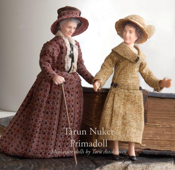 1:12 Porcelain dolls by Taru Astikainen (Maggie and Elsie)