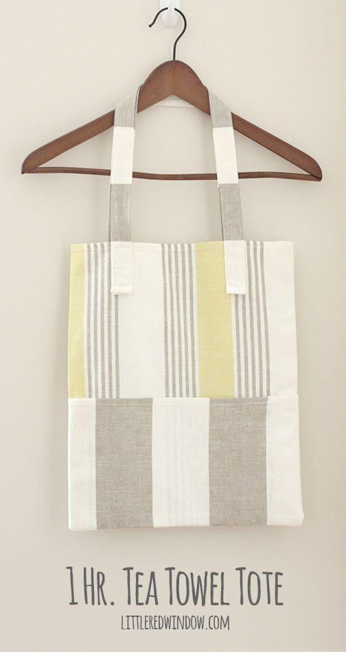 1 Hr. Tea Towel Tote