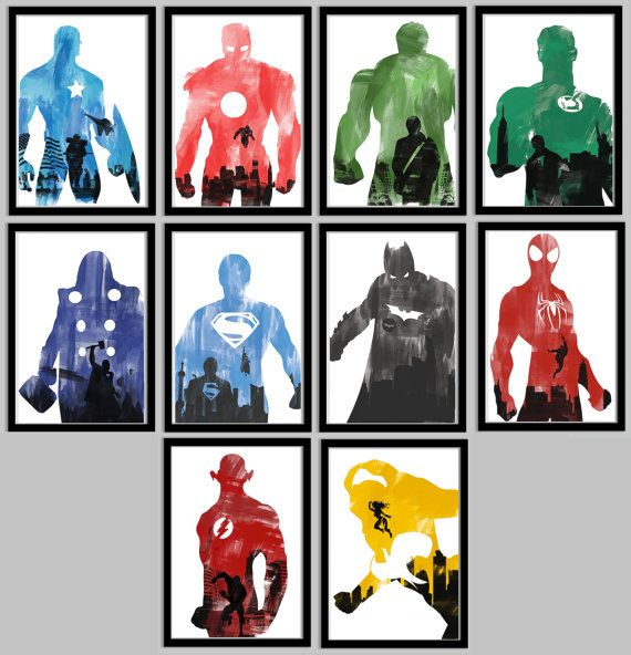 Ultimate Superhero Poster  Collection - 10 Posters total - 11x17