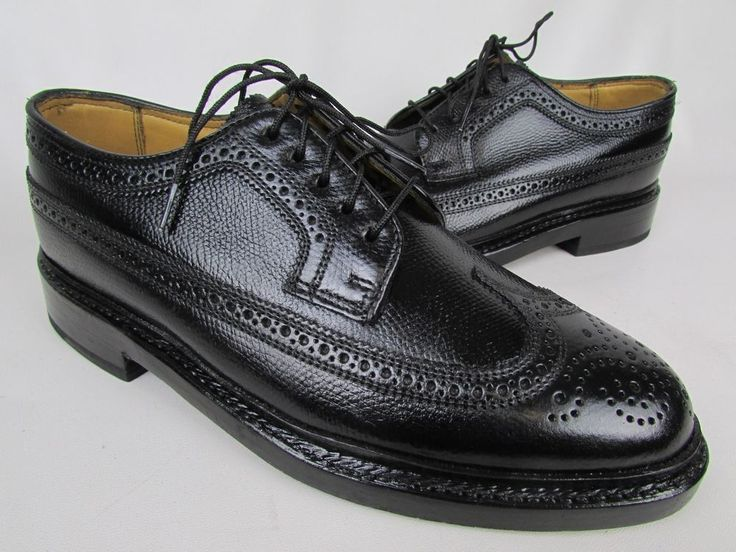 Florsheim Imperial Kenmoor Black Pebble Wingtip Oxford Leather Shoes Size 6 EEE #Florsheim #Oxfords