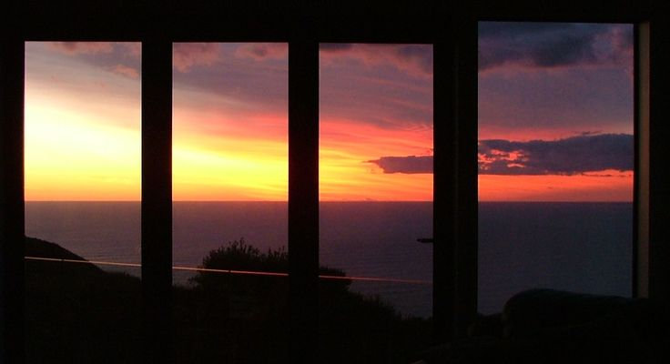 Sunset taken from inside the lounge. These window/doors open right out.