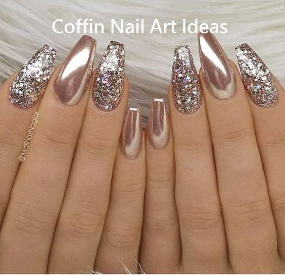 20 Trendy Coffin Nail Art Designs #coffinnails
