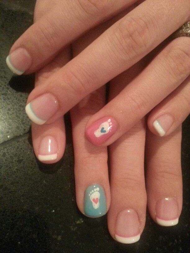 My baby shower nails!