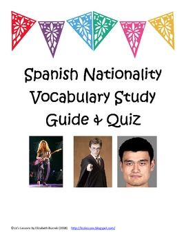 spanish ii study guide Vocabulary words from the entire semester future tense pg 460 future tense irregular verbs pg 462 capitals and nationalities of the spanish speaking countries.