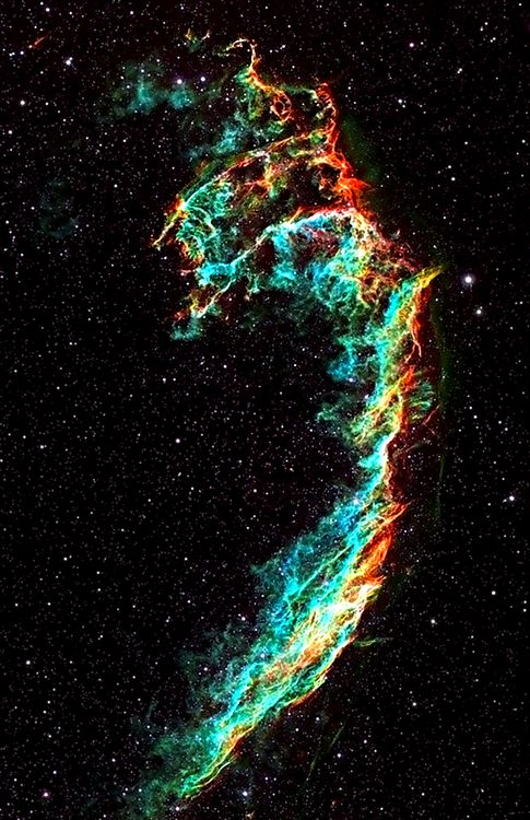 Veil Nebula. Looks like a bass clef to me hehe beautiful nonetheless!