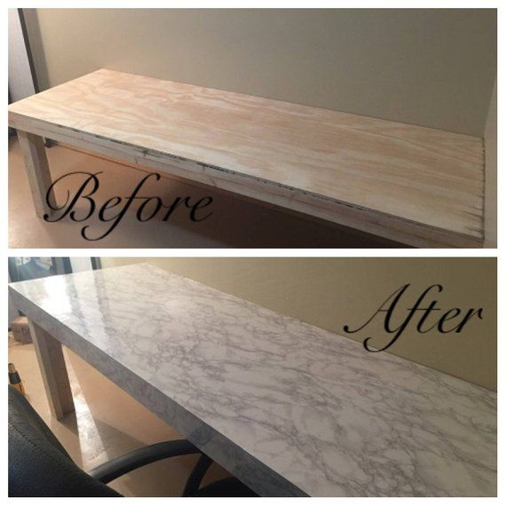 Instant Peel And Stick Counter Top White Faux Marble Granite Not Contact Paper Countertop Makeover Replacing Kitchen Countertops Diy Countertops