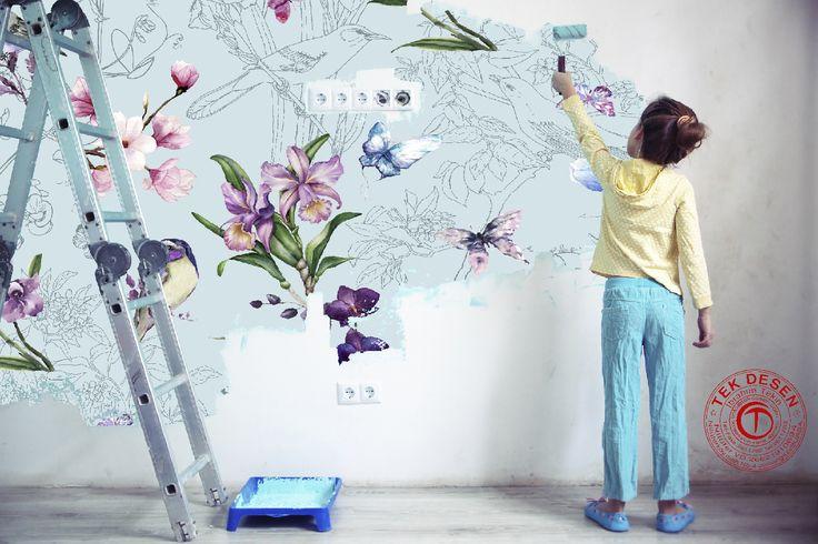 New Creations #tekdesen #design #studio #textile #textiledesign #print #printdesign #idea #fashion #new #creations #colors #trend #blue #paiting #hulyayalcin #woman #mens #wear #home #hometextile #summer #2018 #bursa #turkey #kids #yellow