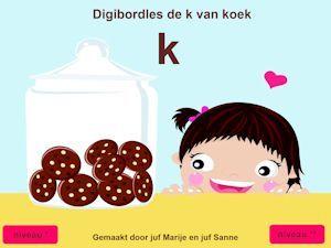 Digibord klankles De k van koek - Juf Marije en Juf Sanne