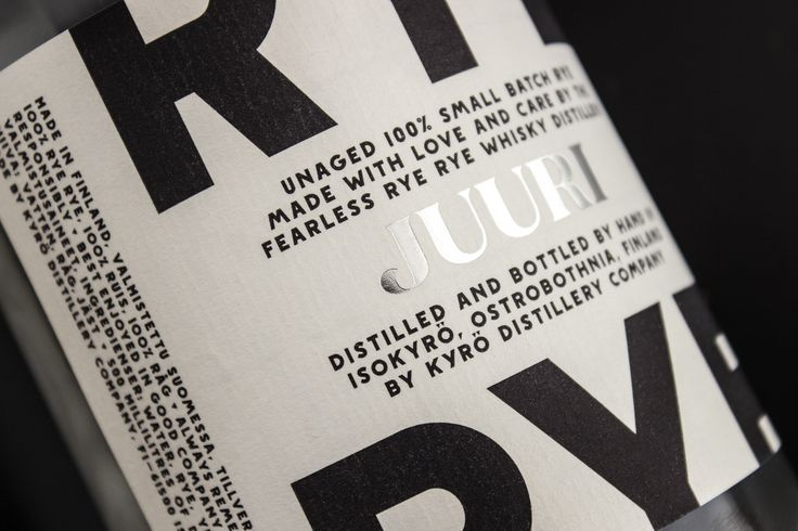 The Dieline Awards 2015: 2nd Place Spirits- Kyrö Distillery Company — The Dieline - Branding & Packaging