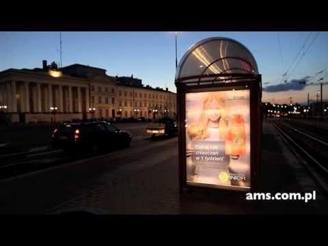 reklama niestandardowa: druk soczewkowy na citylightach #ams #citylight