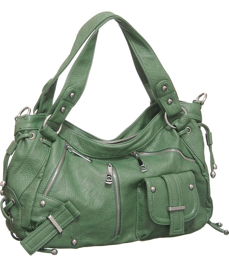 """Bay Green Large """"Utilitarian"""" Crossbody-to-Shoulder Bag HoboBags Hobo, Pur Boutiques, Crossbody To Should Bags, Green Large, Pur Shoppin, Bays Green, Large Utilitarian, Crossbodytoshould Bags, Dreams Closets"""