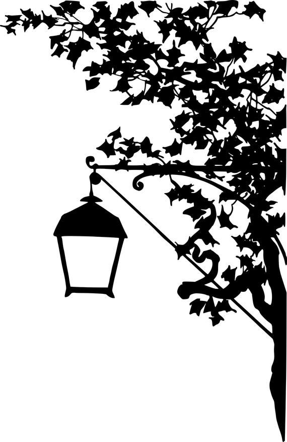 Vintage Silhouette Street Lamp Clipart In Svg Eps Png Etsy Vintage Silhouette Street Lamp Clip Art Vintage