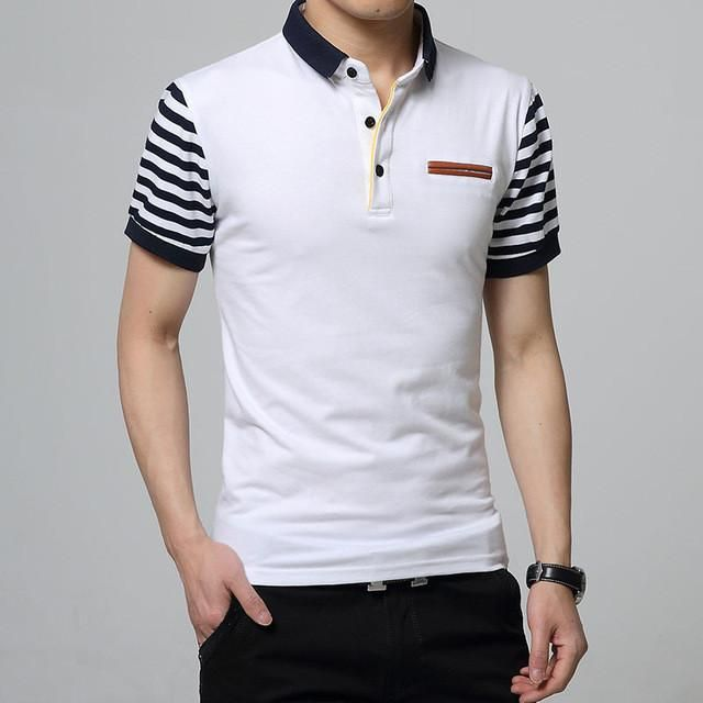 HEE GRAND 2017 Summer Men Short Sleeve Polo Shirt Men's Casual Comfortable Polos Men Camisa MTP421