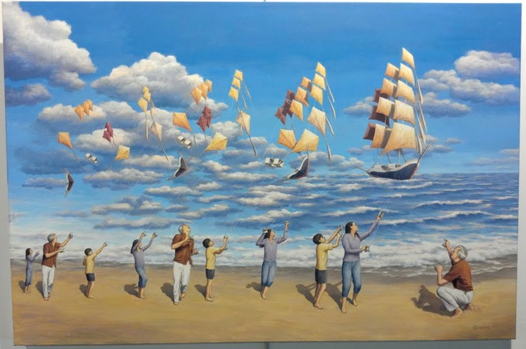 On the High Seas by Rob Gonsalves. For more information or to order, call us at 301.881.5977. Email us at info@huckleberryfineart.com or visit our website at www.huckleberryfineart.com