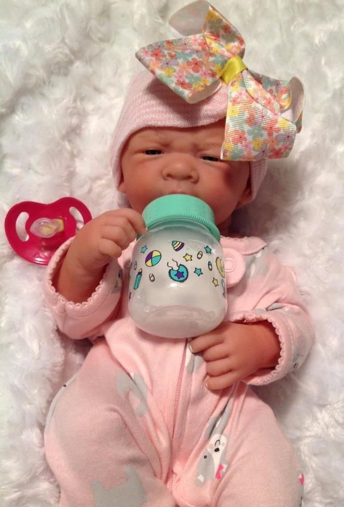 OHH! IT'S A GIRL REBORN BERENGUER PREEMIE DOLL W BOTTLE PACIFIER AND EXTRAS ++++ #BERENGUER