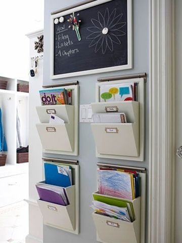 To organize for bills, mail, school, etc - Click image to find more Home Decor Pinterest pins