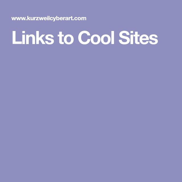 Links to Cool Sites