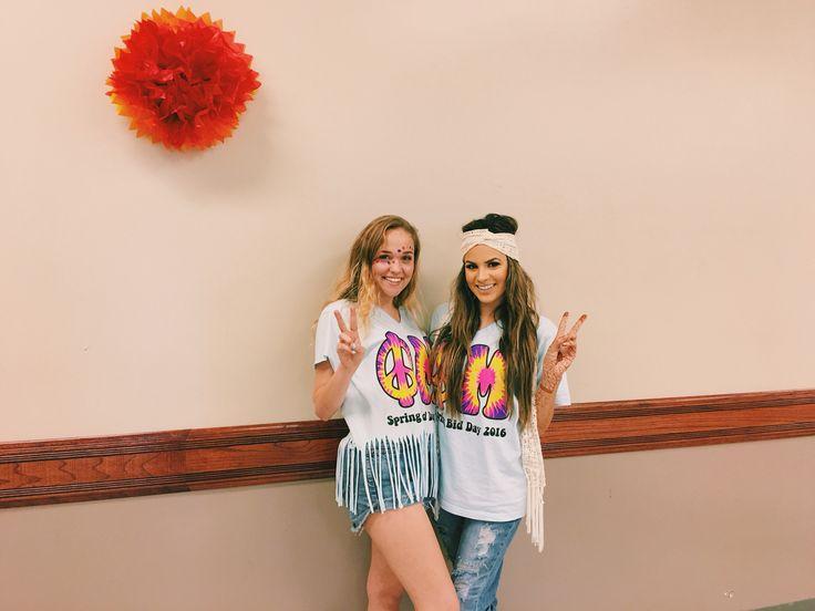 Phi Mu hippie bid day                                                                                                                                                                                 More