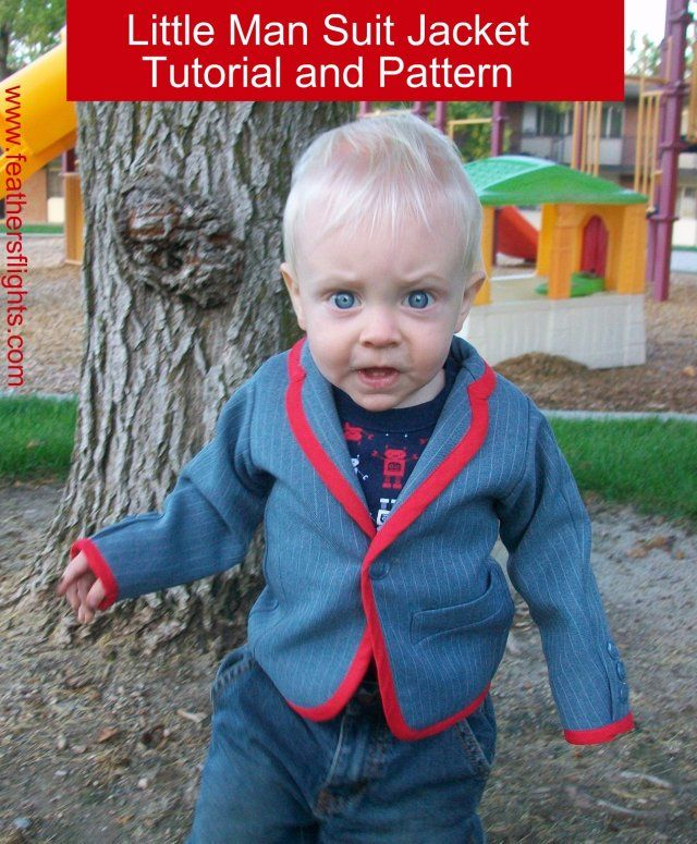 Feather's Flights {a creative, sewing blog}: Little Boy Suit Jacket Pattern and Tutorial
