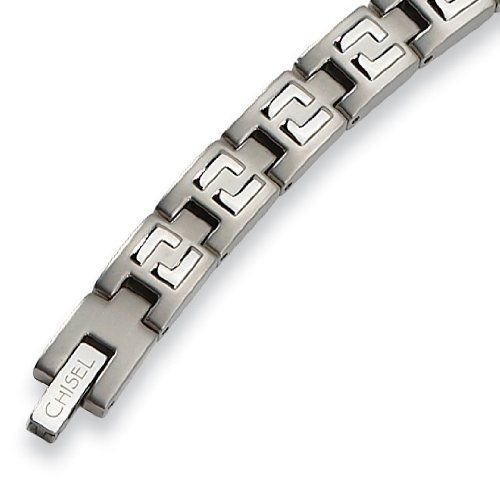 Chisel Stainless Steel Brushed and Polished Bracelet - 8.5 inches Chisel. $34.95