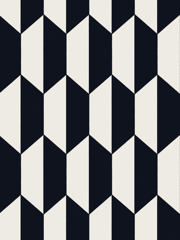 Tapeten Marokkanische Muster : Black and White Geometric Tiles Pattern