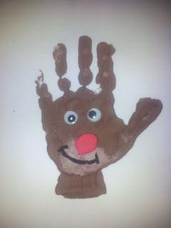 Förskolläraren: Julpyssel med fot-och handavtryck