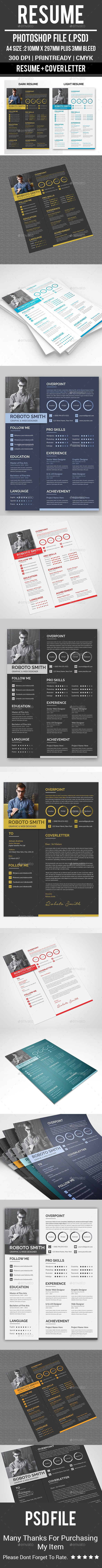 Resume A4 Template PSD 500 best Resumes