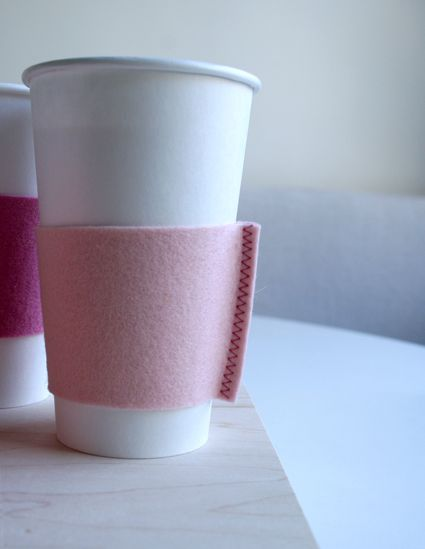 Captivating Felt Coffee Cozies   The Purl Bee
