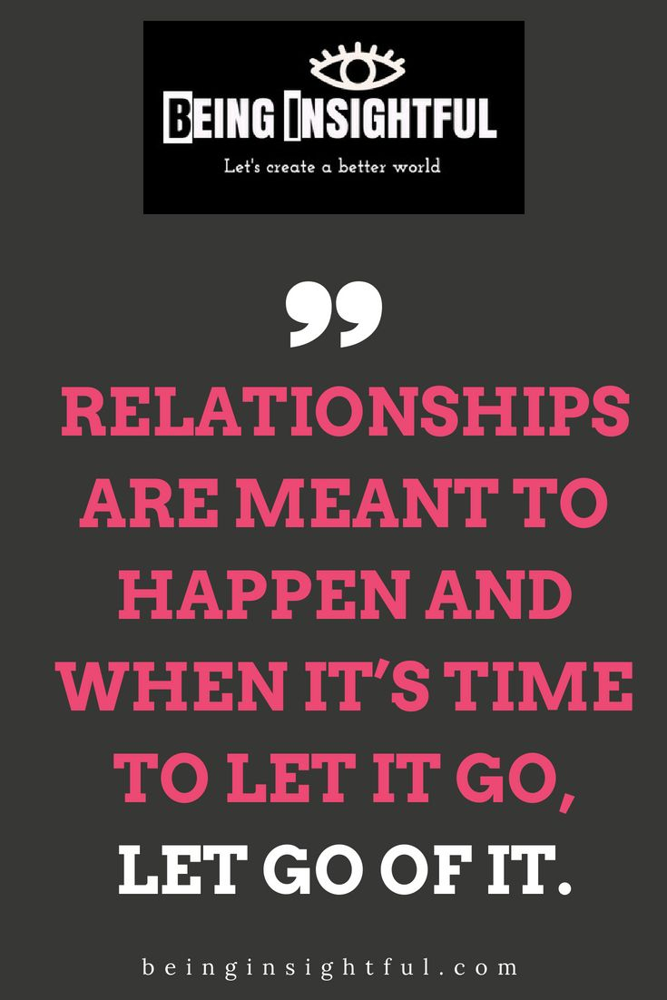 Letting go of a long term relationship