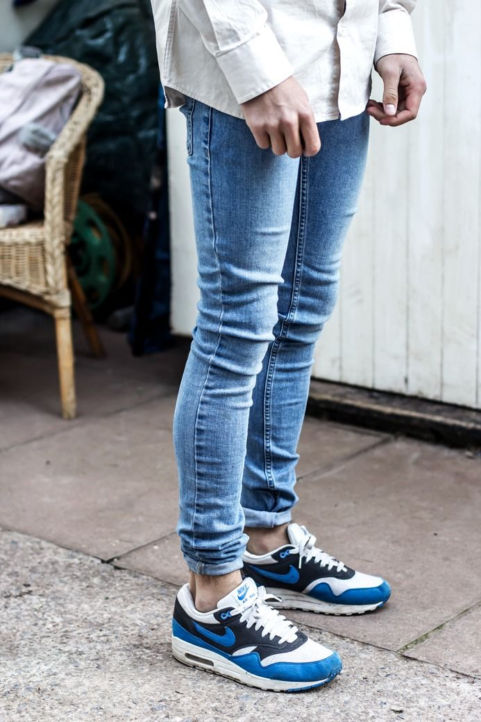 timeless design 08622 5a28e ... nike air max with jeans  sneakers and skinnies · air max 1nike ...