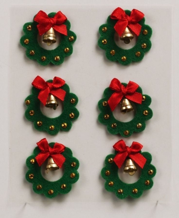 Christmas Wreath Felt Embellishments