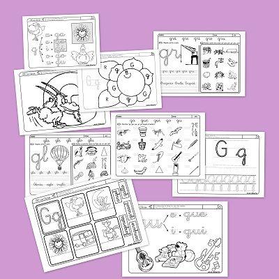Fichas de Lectoescritura con la G #fichas via @Escuela Montessori de Valparaíso Montessori de Valparaíso en la Nube