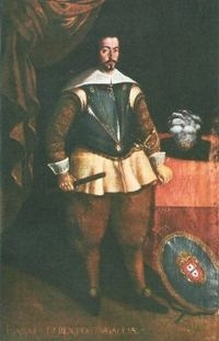 Joao IV (1603 - 1656). King of Portufal from 1640 until his death in 1656. He fought in the Portuguese Restoration War against Spain to make Portugal independent again. He married Luisa of Medina-Sidonia and had five children.