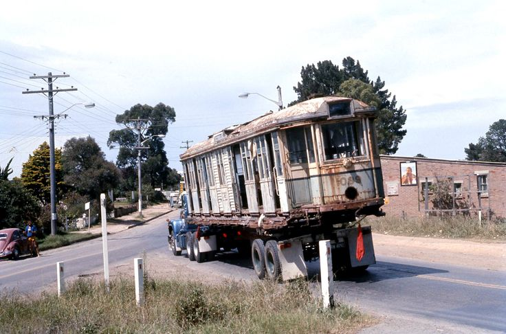 https://flic.kr/p/dQEt97 | Albie Richardson's Mack semi trailer FSS-343 carrying SPER (Sydney Tramway Museum) OP class tram 1089 in Old Northern at Galston Road Dural or Galston, N.S.W. Australia. | This reproduction is from a scan of a colour slide taken on 2 February, 1974.   Albie Richardson's Mack semi trailer FSS-343 carrying SPER (Sydney Tramway Museum) OP class tram 1089 in Old Northern at Galston Road Dural or Galston, N.S.W. Australia.